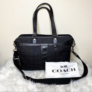 Coach Diaper Bag Black Large  F77156